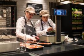 Restaurant en Bakery café in grotere Albert Heijn supermarkten